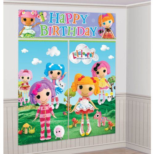 Black Friday Deal LaLaLoopsy Giant Scene Setter Wall Decorating Kit Birthday Party from Amscan Cyber Monday