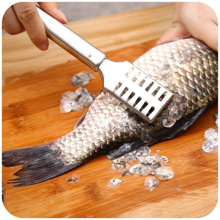 Кухня помощь рыбы масштабирования рыбья чешуя очистки кожи удалить инструмент кухня untensils нержавеющей стали гаджеты 1 шт.