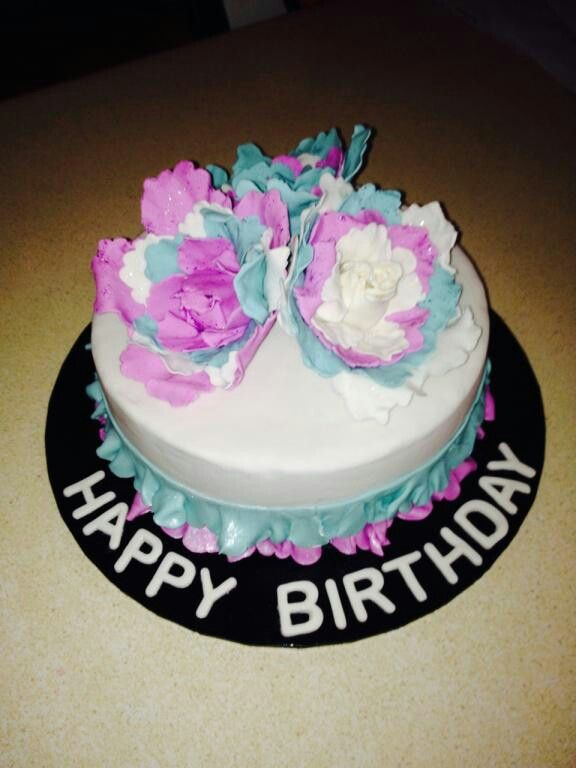 Grandma Cake, flowers