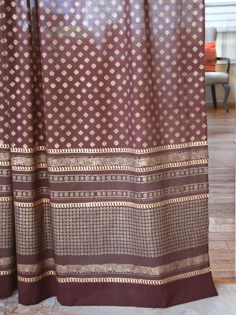 Curtains Ideas chocolate brown tab top curtains : 17 Best images about print - Dreams of India on Pinterest | Euro ...