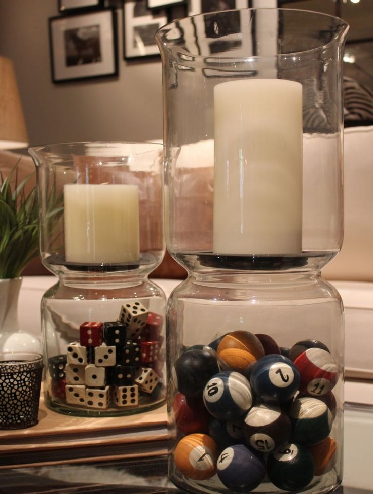 Are your Accessories Dated? I love this blog from Maria Killam about refreshing your decorating! I'm on the hunt for these glass candle lanterns. I've ordered the dice. My grandfather made these great game boards that I'll also incorporate into our family room. Psyched.