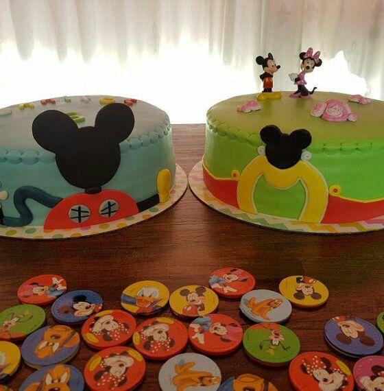 2 heerlijke verjaardagstaarten! Thema: Mickey Mouse Clubhuis