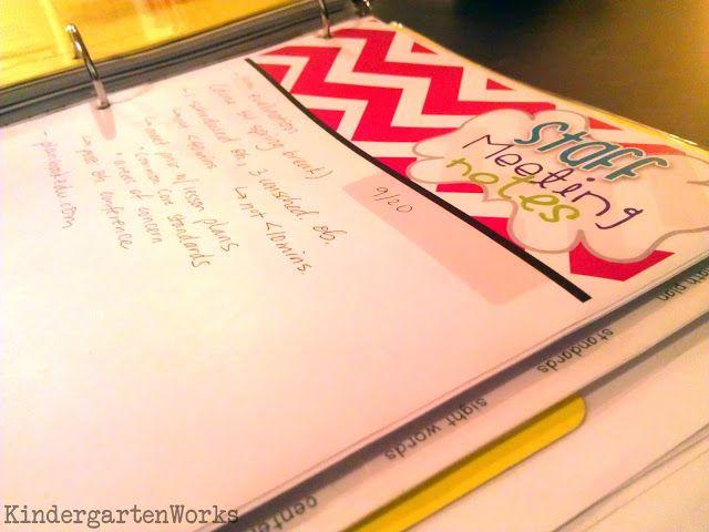 binder basics {how to make a teacher planning binder} - KindergartenWorks