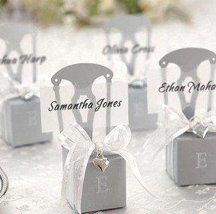 Wedding Candy Box Gift Box Half-handmade Box Silver color chair candy boxes 100pcs/lot