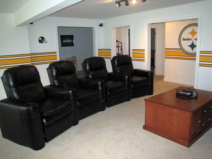 Superieur Painted Steelers Stripe Around The Man Cave