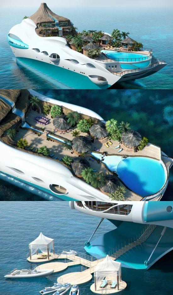 Tropical Island Yacht. Da paura.