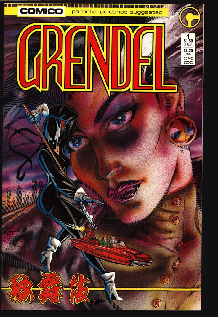 GRENDEL #1 2nd Series Hunter Rose Matt Wagner Beowulf Arnold & Jacob Pander Brothers Comico Martial Arts Ninja Cult Comics