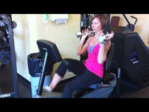 Recumbent Bike Intervals + Arm Training