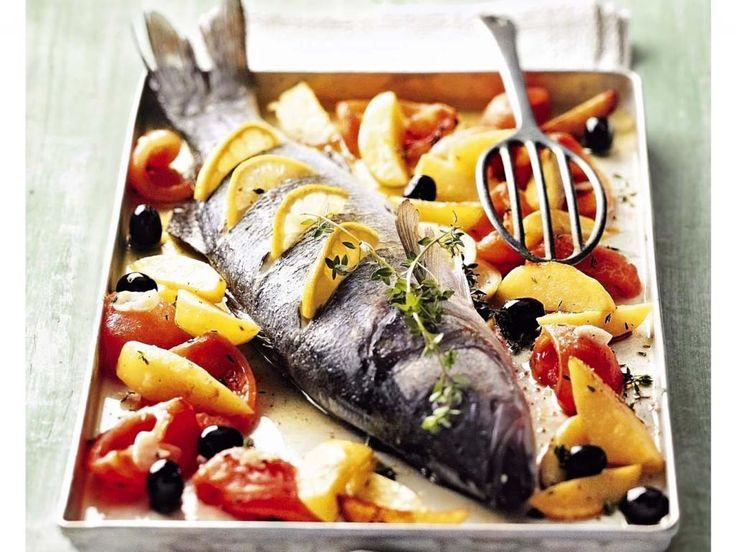 Loup de Mer aus dem Ofen