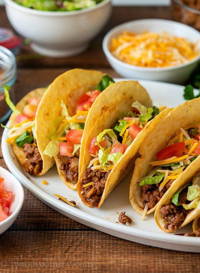 Ground Beef Tacos Recipe Recipe In 2020 Beef Tacos Recipes Taco Recipes Ground Beef Ground Beef Tacos