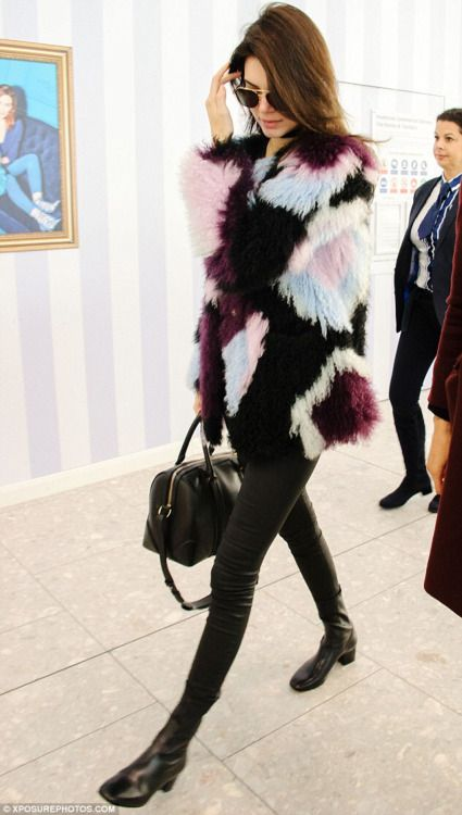 Fur street style Kendell Jenner #bymisswong