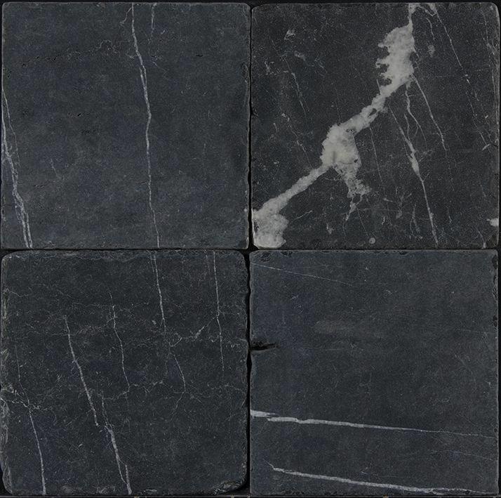 Black Corinthian Marble Tile 12x12 Tumbled Black Marble Tile Tumbled Marble Tile Marble Tile