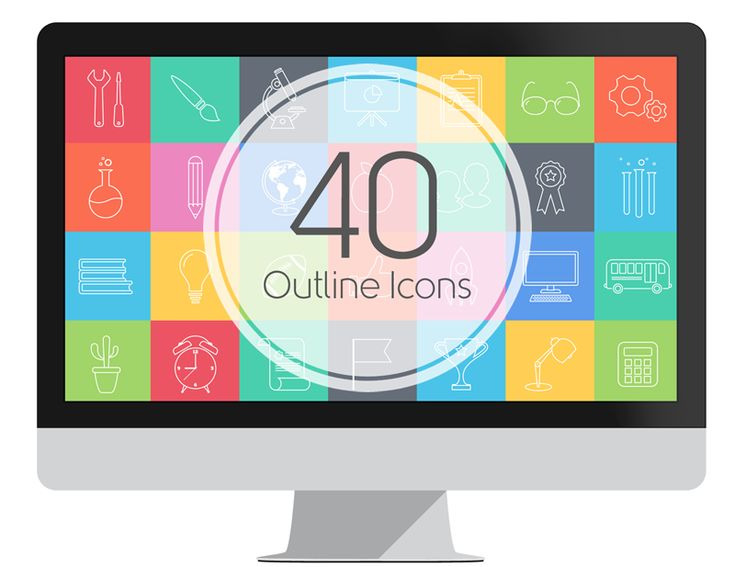 Beautiful set of vector-based outline icons ready to use in your PowerPoint presentations!