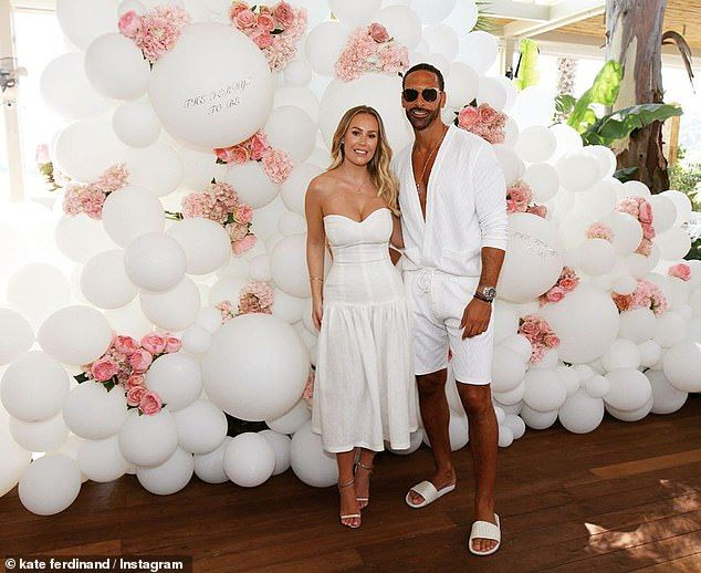 Kate and Rio Ferdinand mark the first day of wedding festivities