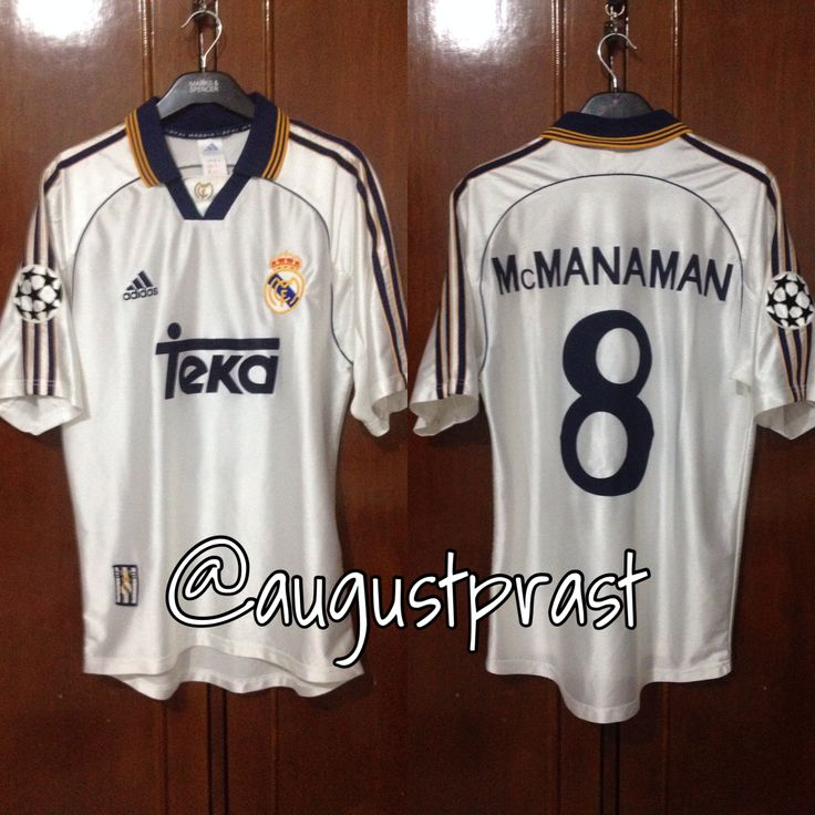 Real Madrid 1998-2000 Home #8 Mcmanaman
