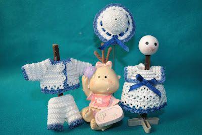 Casitas de muñecas: Vestidos marineros para niño y niña