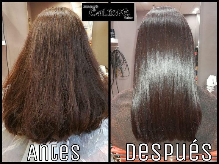 Antes y después de nuestra #colocación #tratante #Elumen!  Resultados más que evidentes!  En peluquería Cal.liope 977301709  650273028  #reus #tarragona #peluqueria #peluqueriareus #color #caliope