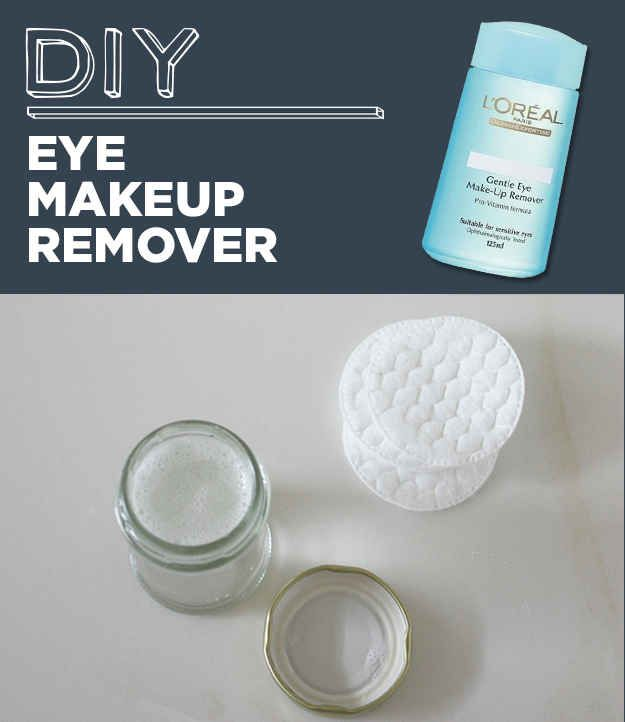 DIY Eye Makeup Remover | 31 Household Products You'll Never Have To Buy Again