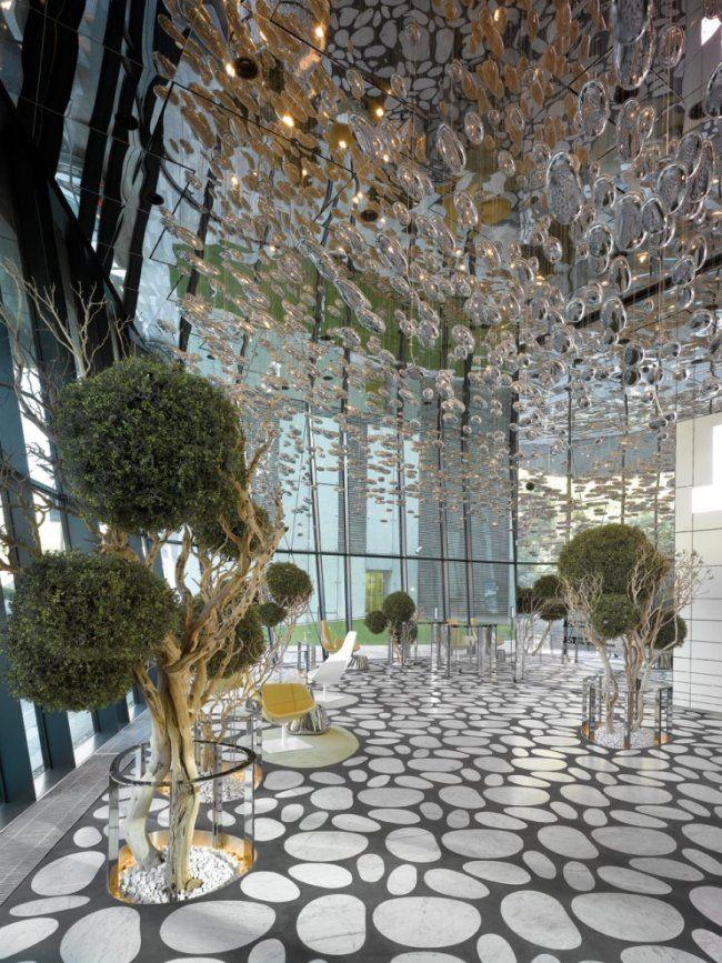 Amazing Floating Mercury Installation at J headquarters - Wave Avenue