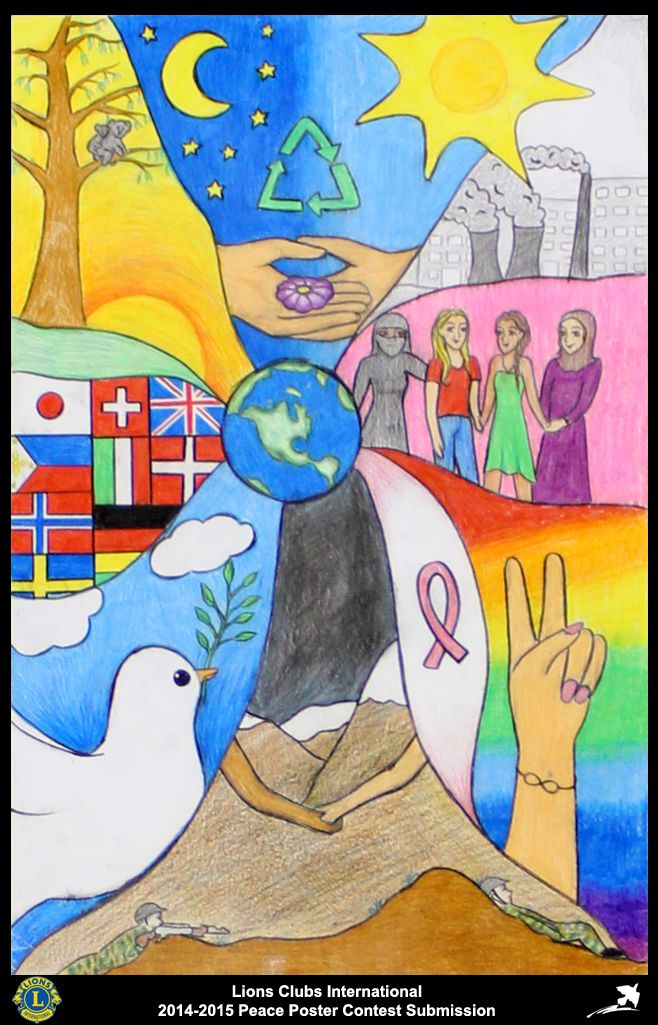 2014-15 Lions Clubs International Peace Poster Competition submission from Sykkylven/Sigtuna Lions Club in Norway