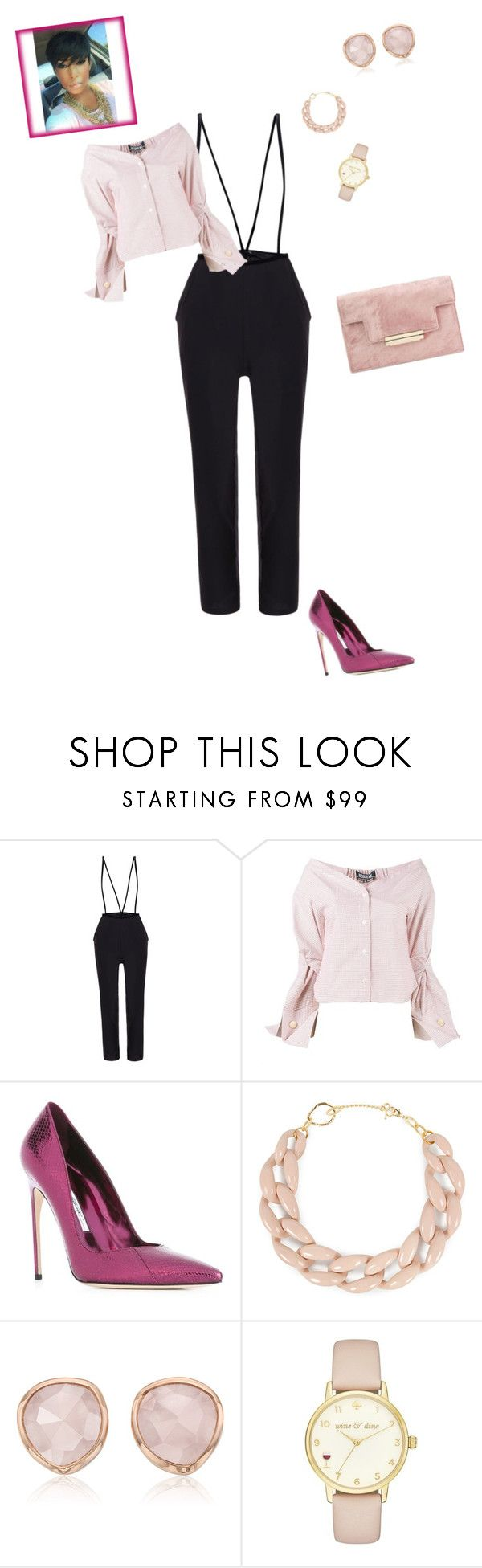 """""""the Wife"""" by lady-jordan ❤ liked on Polyvore featuring Jacquemus, Brian Atwood, DIANA BROUSSARD, Monica Vinader and Kate Spade"""