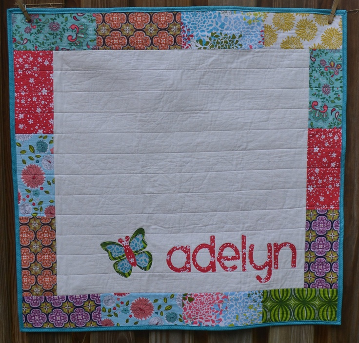 38 Best Personalized Baby Quilts Images On Pinterest