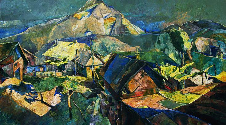 Papageorgiu Andrea  'Morning lights'  2013  Oil on canvas