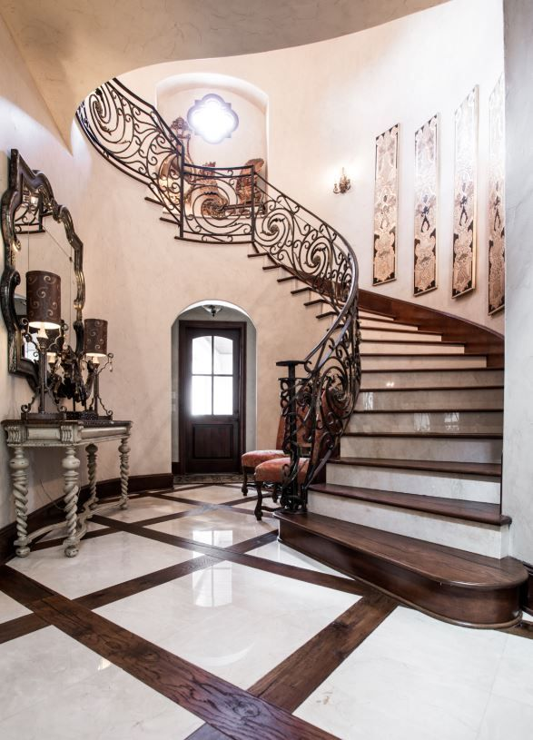 Mediterranean Entryway With Tile And Wood Floors   Entry ...