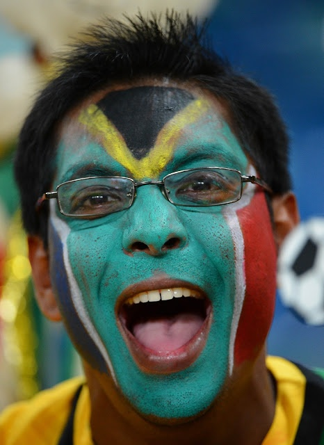 South Africa's supporter #bodypaint #fun #sport