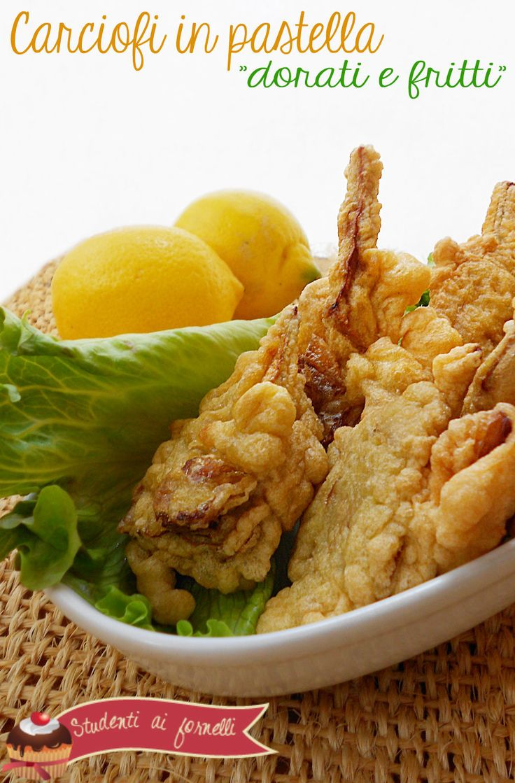 carciofi in pastella dorati e fritti ricetta tipica napoletana