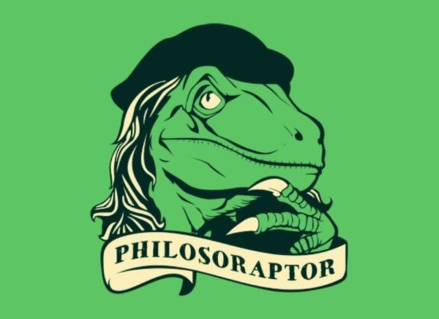 """Want to Giggle Like a Giganotosaurus? Check Out These Dinosaur Memes: """"Philosoraptor"""""""