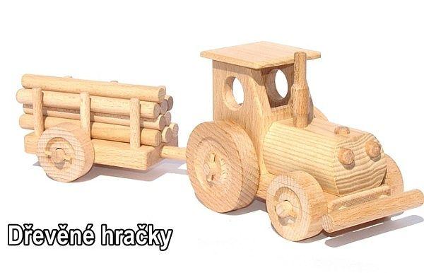 Dřevěné hračky traktor