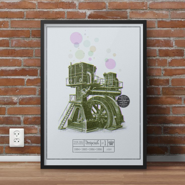 Vitage, retro poster - Be the best! Buy it at https://www.etsy.com/listing/387422950/the-big-machine?ref=listing-shop-header-0