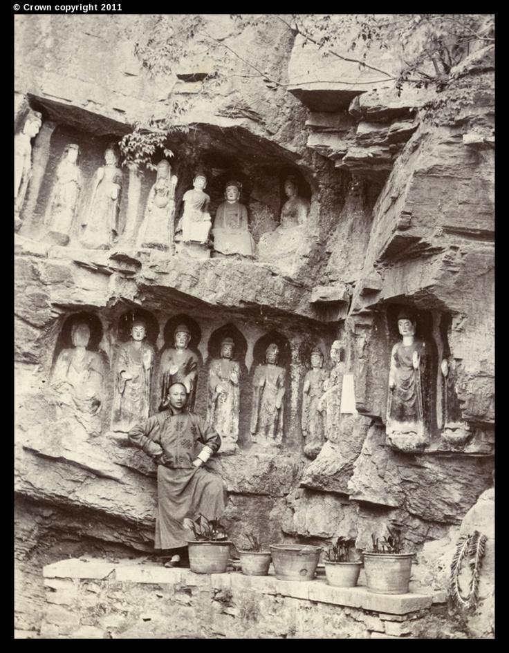 Thousand-Buddha Cliff, near Tsi Nan Fu 1903