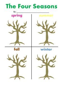 four seasons tree worksheet education science pinterest. Black Bedroom Furniture Sets. Home Design Ideas