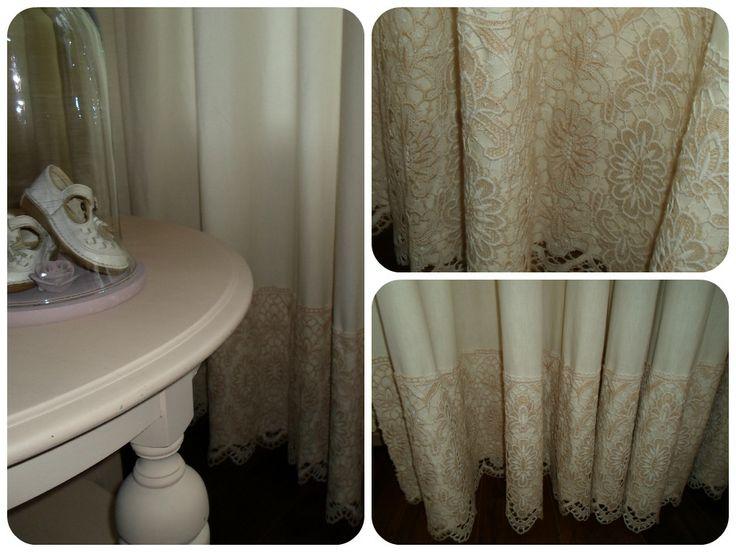 Homemade brocante curtains / Zelfgemaakte brocante gordijnen.. <3  #brocante #curtains #gordijnen #DIY