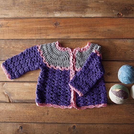 Patty Cake Crochet Cardi by Michele DuNaier Free Knit and Crochet Patterns!...