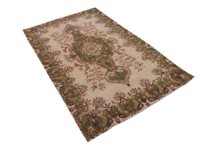 Vintage vloerkleed, bruin, 282cm x 166cm | Rozenkelim.nl - Groot assortiment kelim tapijten