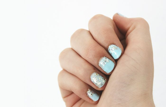 Easter Nail Art | Denise Joanne | Pastel, mint, turquoise, silver, glitter, glitters, cute