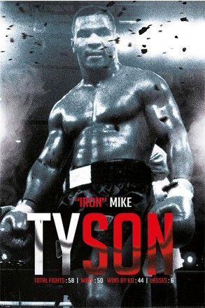 Mike Tyson Boxing Record Maxi Poster