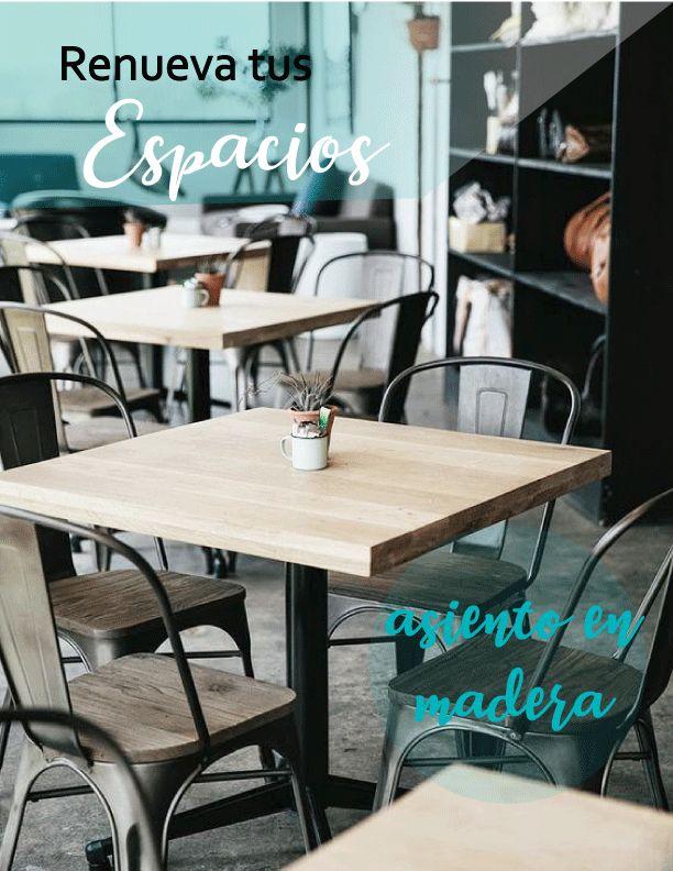 Transformas cada espacio y lo vuelves perfecto , silla Amelia con asiento en madera, una nueva  opción para tener un espacio moderno