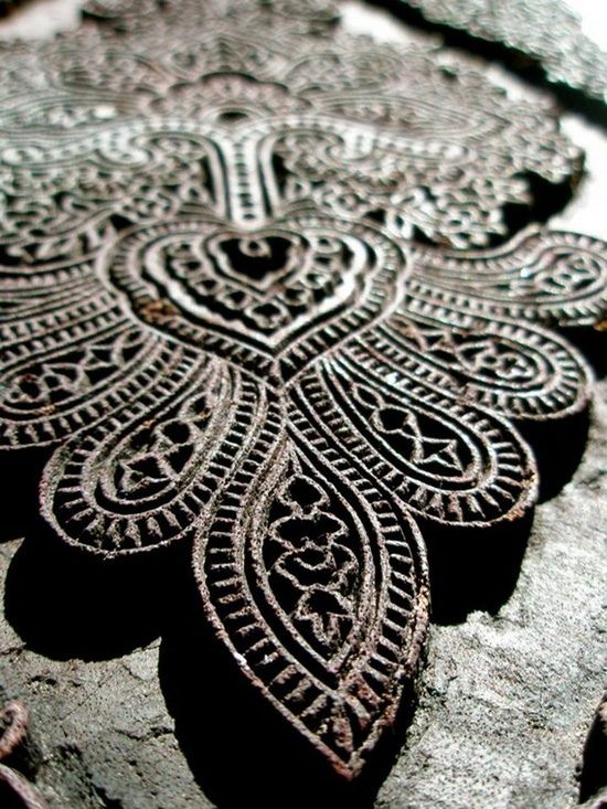 indian printing block