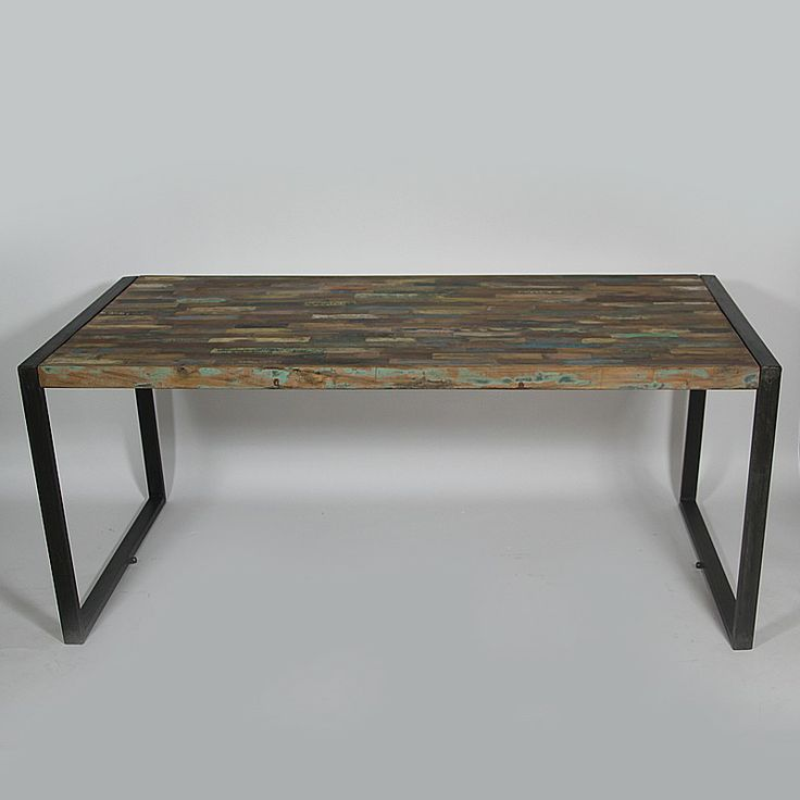 table manger industrielle en bois color table repas structures en m tal et industriel. Black Bedroom Furniture Sets. Home Design Ideas