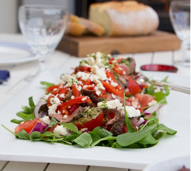 Warm Greek Lamb Salad