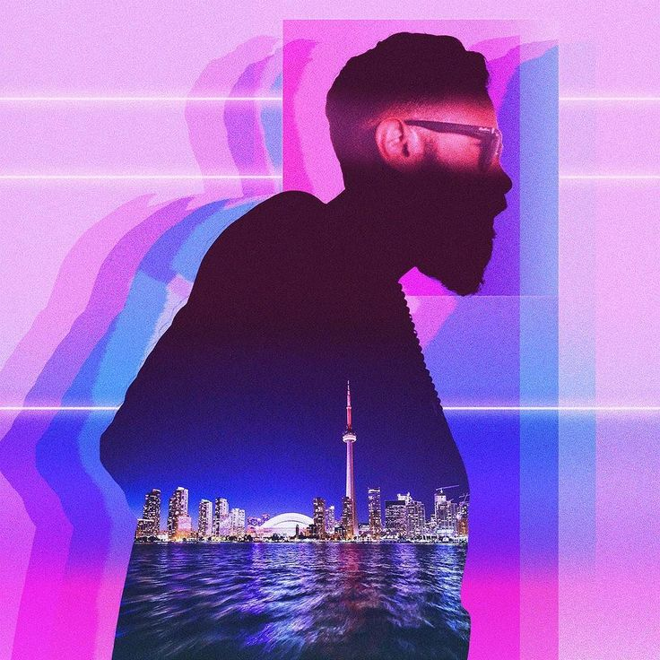 Busy City Man . . #city #man #design #graphicdesign #aesthetic #photoshop #photomanipulation #art #pink  #blue #glitch #trippy #distorted #male #model #photo #vaporwave #colors #vaporart #visual #creative #graphic