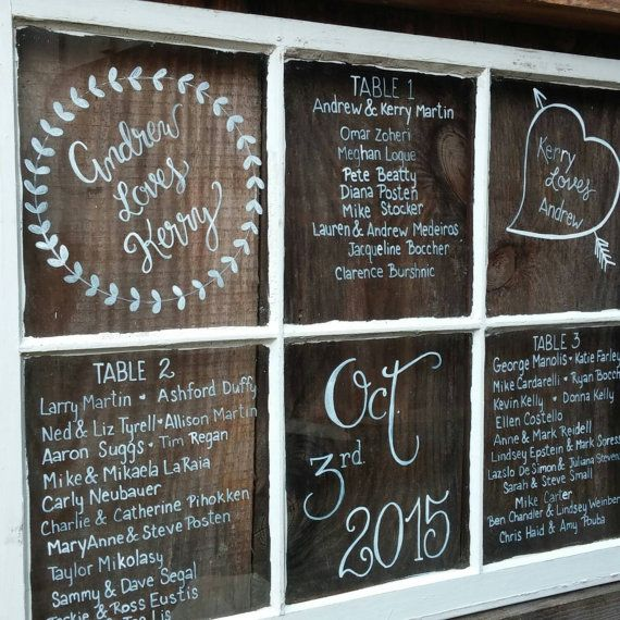 Window Pane Menu Wedding Decor Made To Order Anything You Like