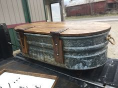 Livestock Water Trough Turned Coffee Table