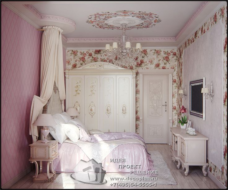 Дизайн детской комнаты для девочки в розовых тонах - http://www.decoplus.ru/design_detskoy