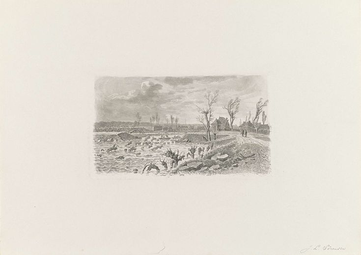 Dijkdoorbraak te Lienden, 1855, Jacobus Sörensen, 1855