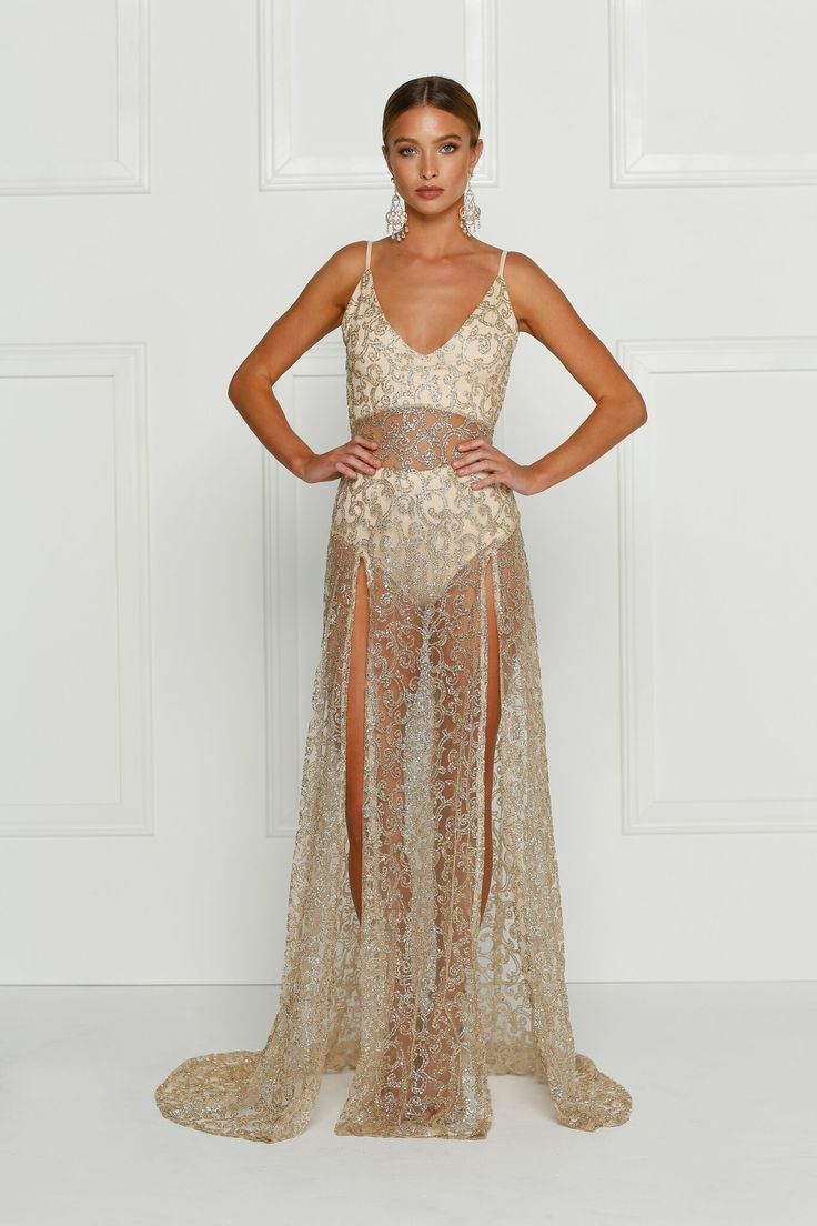 Alamour The Label - Rozay Gown - Gold
